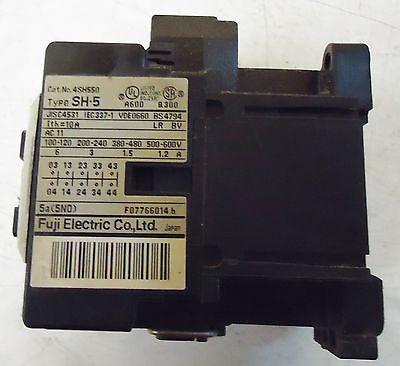 Fuji Electric Contactor Type Sh-5, Cat.#4Sh550, Made In Japan