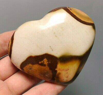 Polished POLYCHROME JASPER HEART Reiki Healing Palm Stone - Madagascar 5
