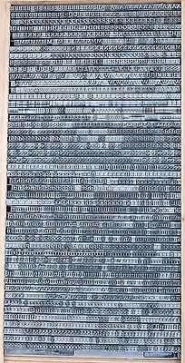 CLARENDON 20p Bleischrift Bleisatz Buchdruck Handsatz Bleilettern Alphabet ABC 2