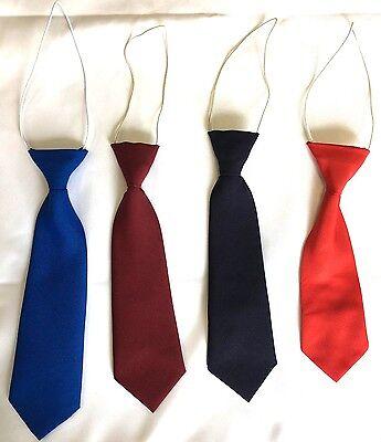 Boys Elastic Neck Tie for Wedding Party Prom Children School Show Kids Tie **New