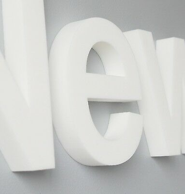 """20mm dick PROSIGN 3D Wandtattoo Wanddeko Buchstabe /"""" MIAMI /"""" aus weißem Schaum"""