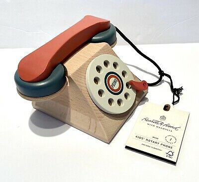 Hearth /& Hand Wooden Toy Rotary Phone with Magnolia
