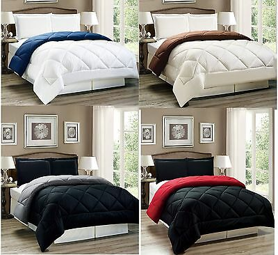 Down Alternative Reversible Comforter Set Twin, Full/Queen or King Size