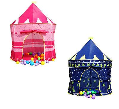 Children Kids Baby Pop Up Play Tent Boys Playhouse Indoor Outdoor Game Castle UK 5