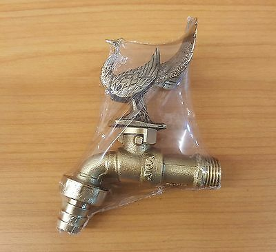 Brass Garden Tap Faucet PEACOCK Spigot Vintage Water Home Decor Outdoor Yard 1//2