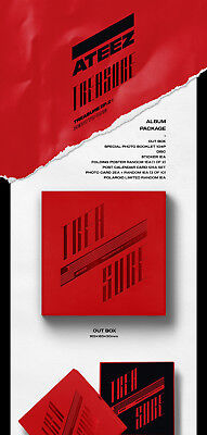ATEEZ [TREASURE EP.2:ZERO TO ONE] 2nd Mini Album CD+Book+Poster+15pCard+etc+GIFT 5