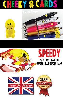 Christmas Funny Pens  - Rude Cheeky Novelty Office  Secret SantaPEN21 2