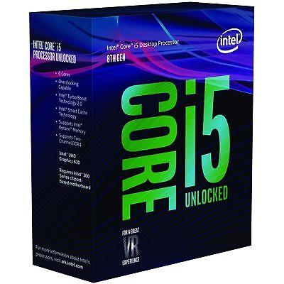 Intel Core i5 8400 6 Core CPU 2.8 GHz LGA 1151 9MB 6 Thread Desktop Processor 2