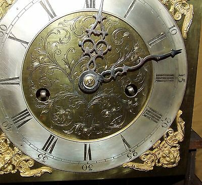 Antique 8 Day Miniature Grandfather / Grandmother Clock : Weight Driven Movement 5