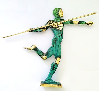 Ancient Greek Bronze Museum Statue Replica Of Javelin Thrower At Olympic Games 2
