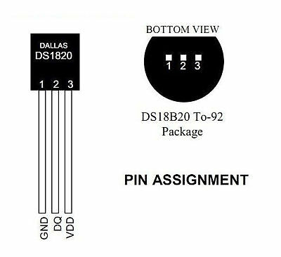 10x Digital Temperature Sensor DS18B20 TO-92 Chips Electronic 3-5.5V for Arduino