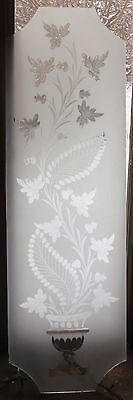 Wheel cut stained glass panel featuringa vase of flowers
