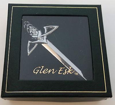 Chrome Celtic Claymore Gift Boxed Scottish Kilt Pin 4 Kilts  Sale Price 3