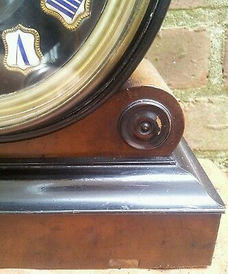 Antique 1880's French Burr Walnut Barrel Style Count Wheel Clock 6
