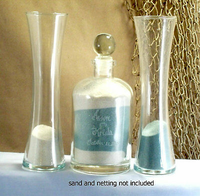 Sand Ceremony Wedding.Wedding Unity Sand Ceremony Set Personalized Glass Top Curved Vase Euro Style