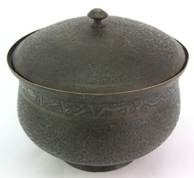 Great Old Islamic Mughal C 1750 Collectible Copper Pot Rich Patina. G3-29 US 3