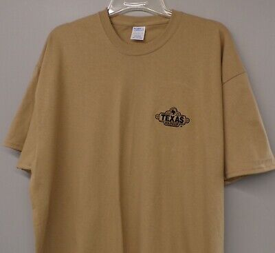 Texas Roadhouse Restaurant Embroidered Mens Colorblock Polo Shirt  XS-6XL NEW