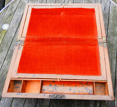 Antique wooden writing slope (No Key) 8
