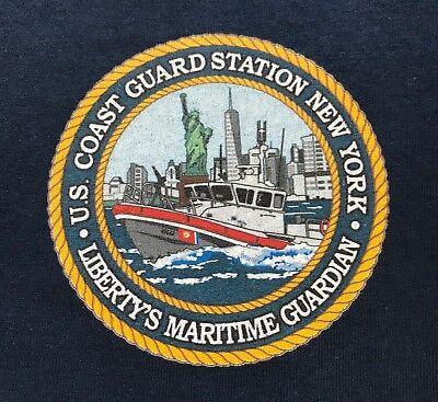 USCG Coast Guard CAPE MAY Station NEW JERSEY Navy Blue Morale Short Slv T-Shirt