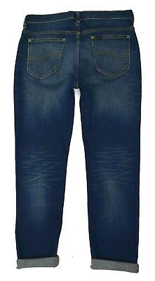 Mens Lee Rider Slim/Skinny Leg Stretch Jeans (SECONDS) 'Tinted Blue' RRP£90 L166 5