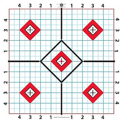 Long Range Rifle Target-Great for Sighting  Scope-11.875x 23.75 inchs-25 sheets