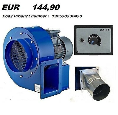 200M Industrial Centrifugal Blower Fan Fume, Smoke Extractor Ventilation 6