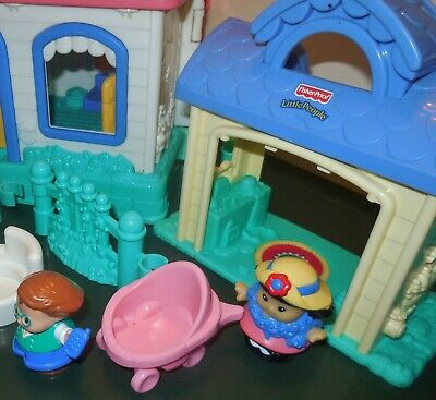 Fisher Price Little People Sweet Sound Dollhouse Cradle Family House Home Lot 4