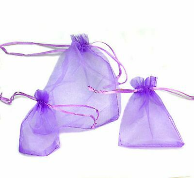 100 Luxury Organza Gift Bags Wedding Favour Chrisamas Jewellery Candy Pouches 10