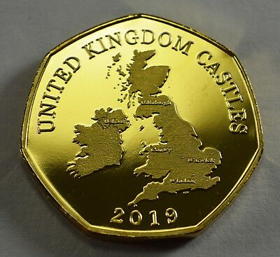 Pair of CONWY CASTLE Commemoratives. 24ct Gold. Silver. Albums/Filler NEW 2019 8