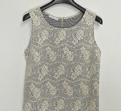 Promod abito vestito corto fiori rose dress kleid manica corta tg S hot T802 5