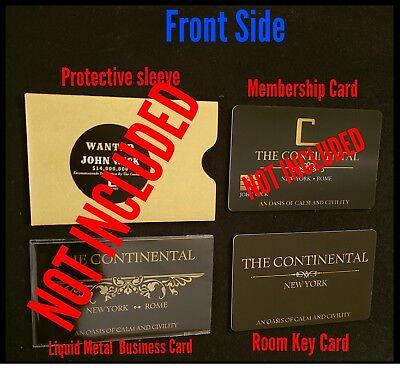 John Wick Continental Hotel Room Card Reeves Mcshane No Coin Baba Yaga Berry 4
