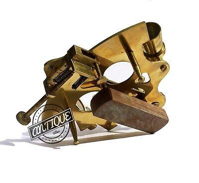 "Valentine Nautical Sextant Ship Instrument Astrolabe Marine Brass Sextant 6"" 5"