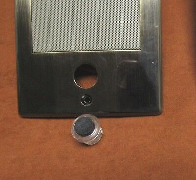 BLACK M/&S Round Lighted Chime Button for Door Intercom BD3BN D3BN