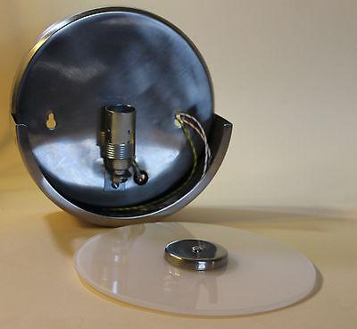 Wandlampe Bauhaus Opalglas-Scheibe Design-Leuchte nur 6 cm Ausladung//Wandabstand