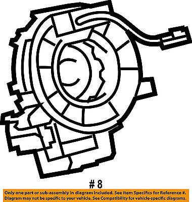 Toyota Oem Airbag Air Bag Clockspring Clock Spring 8430747020