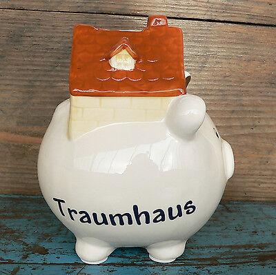 Sparschwein Traumhaus Geldgeschenk Spardose Haus Neubau Hochzeit