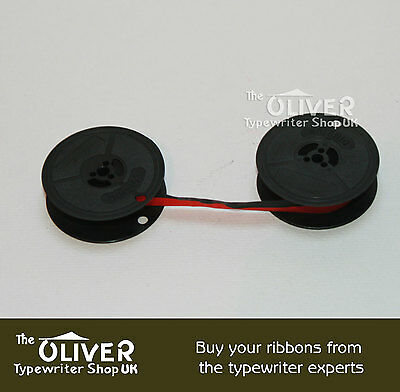 OLYMPIA 6202, 6710 or 6760 TYPEWRITER RIBBON AND SPOOL  (BLACK OR BLACK AND RED) 3