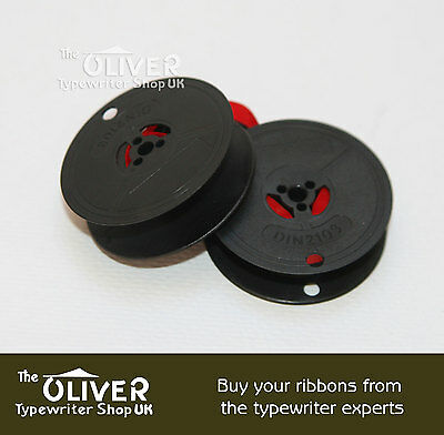 OLYMPIA 6202, 6710 or 6760 TYPEWRITER RIBBON AND SPOOL  (BLACK OR BLACK AND RED) 5