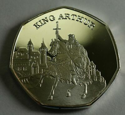 KING ARTHUR and ROBIN HOOD .999 Silver Commemoratives in 50p Coin Display Case