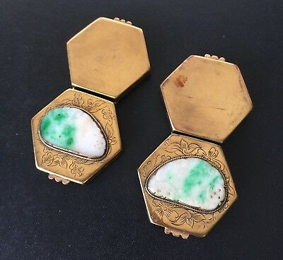 Two Chinese Pill Boxes with Jadeite 5