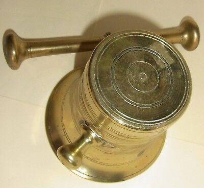 Alter Mörser mit Stößel ( Pistill ), Messing / Bronze,ca H 10 cm,Dm 11cm, 1528g 5