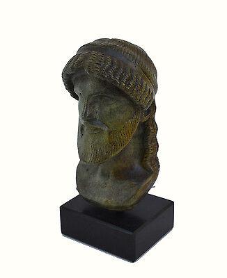 Zeus bust head God King of  all Ancient Greek Gods sculpture artifact 3