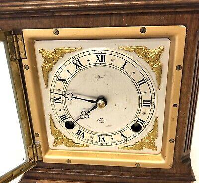 ELLIOTT LONDON Walnut Bracket Mantel Clock : Strikes Hours & Half Past 5