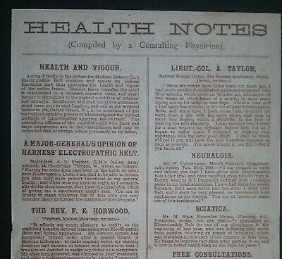 Victorian Electropathic Belts Leaflet ******(See Description For Details)****** 4