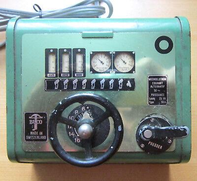 BUCO Trafo Type 5611 Transformator Modellbahn Wechselstrom Switzerland vintage