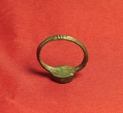 Extra Ancient Roman Seal Ring, Finger Ring, 4. Century, Rabbit Seal, Rare! 5