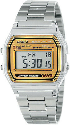 Casio Classic Digital Stainless Steel Alarm Stopwatch Casual Watch A158WEA-9 New 6