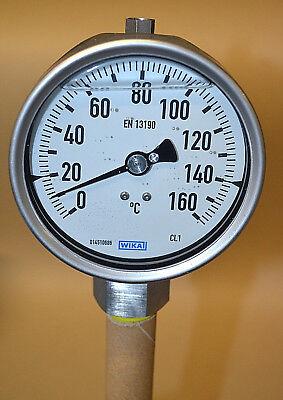 WIKA Bimetall-Thermometer R5502/3-C1K-SJ-B35561-ZZZ  0-160°C 500mm NEU