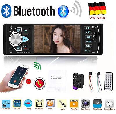 1Din Autoradio Mit Bildschirm Display Video Monitor Bluetooth Freisprech Usb Sd 2