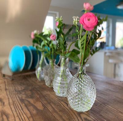 4x Deko-Flaschen Glasvase Tischvase 20cm Set Blumenvase Glasflasche Vase Väschen 2
